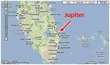 Map Of Florida Showing Jupiter.Jupiter Fl Vacation Rental Villa Jupiterholidays Com